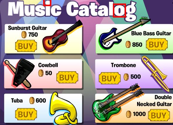 music catalogue