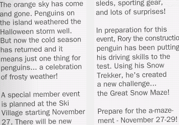member snow event